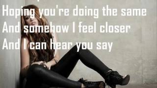 Miley Cyrus - Stay (Lyrics)