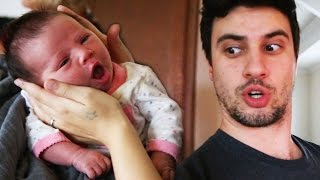 JON WATCHES BABY ADELINE FOR THE FIRST TIME!!!