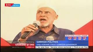 Garissa senator Yusuf Haji and governorship aspirant Ali Korane asks residents to vote in Karone