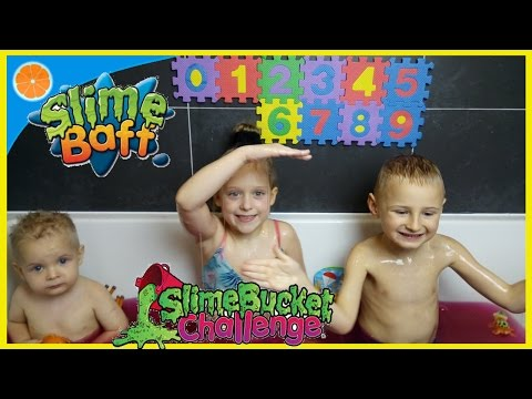 Slime Baff fun | Slime Bath challenge | learning numbers | Glibbi slime |  Blue Orange