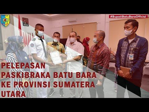 Pelepasan Paskibraka Kabupaten Batu Bara ke Provinsi Sumatera Utara