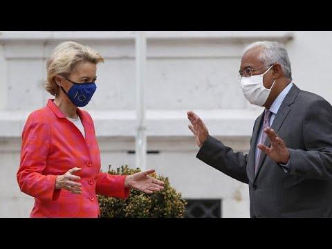 Στην Πορτογαλία για το Ταμείο Ανάκαμψης η Ούρσουλα φον ντερ Λάιεν…