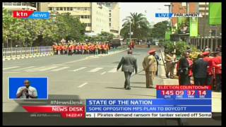 Cabinet Secretaries arrive to attend the President's state of the Nation address