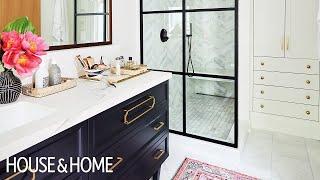A Principal Bathroom & Bedroom With Bold Design Moves