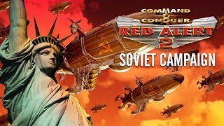 Command and Conquer: Red Alert 2 SOVIET Campaign All Cutscenes (Game Movie) 1080p HD