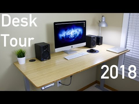 Ultimate Tech Desk Tour 2018! (With Fully Jarvis Standing Desk)