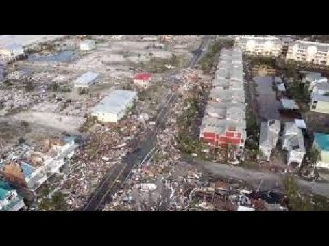 The aerial view of damage that Hurricane Michael caused