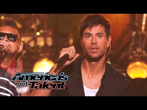 "Download Enrique Iglesias And Sean Paul Get The Crowd Going With ""Bailando"" - America's Got Talent 2014 HD Mp4 3GP Video and MP3"
