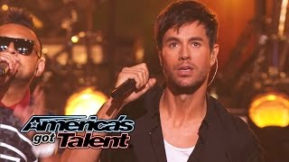 Enrique Iglesias and Sean Paul Get the Crowd Going With 'Bailando' - America's Got Talent 2014