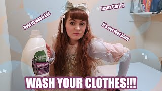 WASH YOUR FRACKING CLOTHES