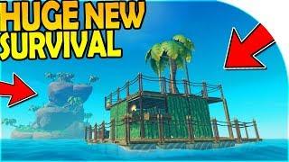 HUGE *NEW* SURVIVAL GAME! - RAFT BASE BUILDING ( Raft Survival Gameplay Part 1 )