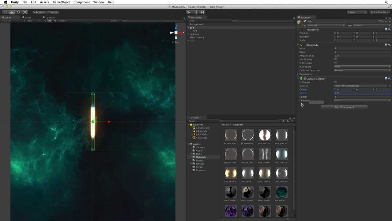 Creating shots - 06 - Space Shooter - Unity Official Tutorials