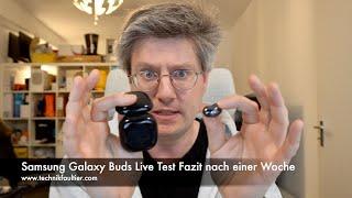 Samsung Galaxy Buds Live Test Fazit nach einer Woche