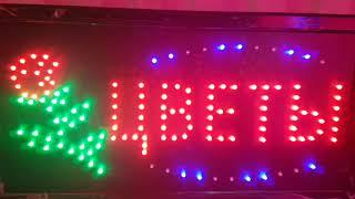 "Светодиодная LED вывеска ""Цветы"" 48 Х 25 см от компании ТехМагнит - видео"