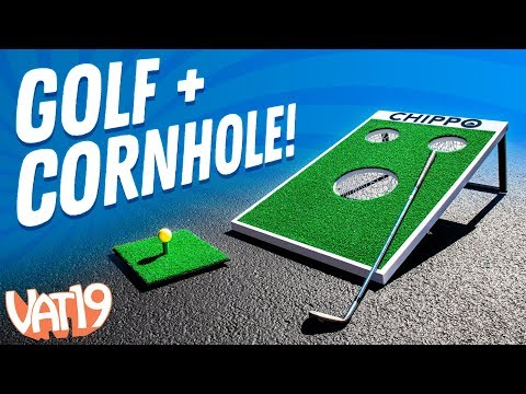 Play Cornhole With Golf Clubs! ⛳