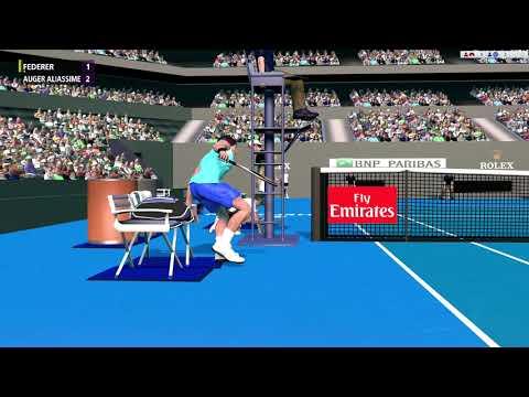 Federer vs Auger Aliassime Full Ace Tennis R32 ATP500
