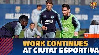 Messi & Co. continue work at Ciutat Esportiva