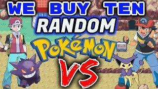 We Buy 10 Random Pokemon. Then We FIGHT! Pokemon FireRed