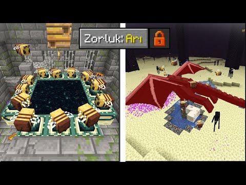 Minecraft'ı 14 Kişi Arı Olarak Bitirdik !!
