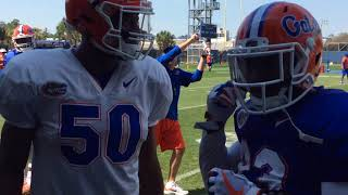 Dan Mullen & Co. coach up Florida players at spring practice
