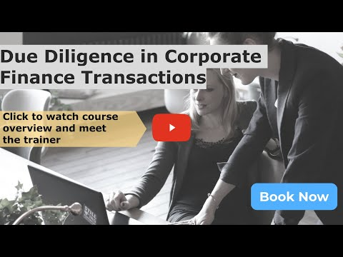 Online Due Diligence in Corporate Finance Transactions Courses ...
