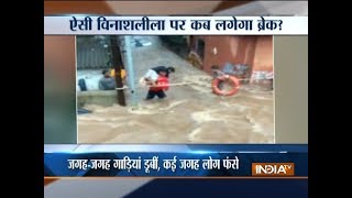 Heavy rains continued to lash various parts of India