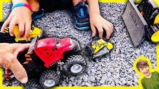 Monster Truck Dump Trucks Working! Axel Show Toy Trucks Compilation