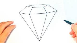 Cómo Dibujar Un Diamante Paso A Paso | Dibujo Fácil De Diamante