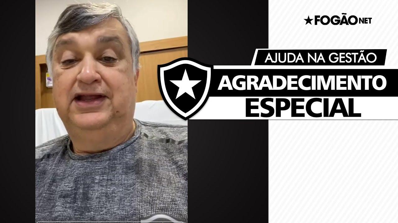 Durcesio faz agradecimento a seis 'grandes botafoguenses' que o ajudaram nos primeiros oito meses de gestão do Botafogo