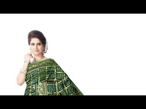 All Over Green Color Fancy Design Work Art Silk Bandhani Saree