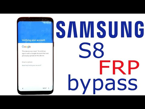BOOM!!!Samsung S8 SM-G950F Android 8 Remove Google Account Bypass