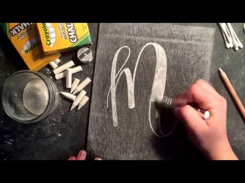 SheShe Design Chalk Script Lettering UPPERCASE M