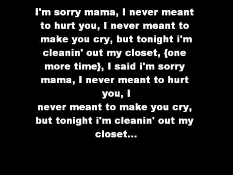 cleaning out my closet by eminem with lyrics