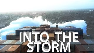 Ship In Storm! Bad Weather and Rough Seas in Atlantic Ocean  | Life at Sea