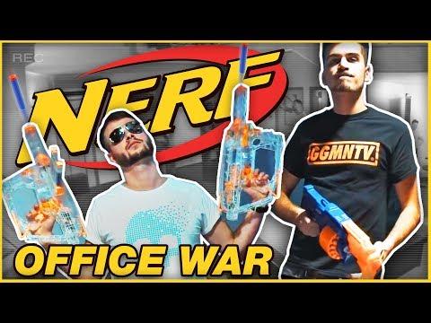 Nerf vojna v kancelárii! │ GoGoManTV