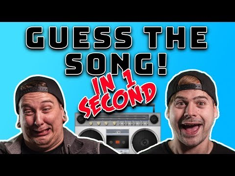 Guess That Song In One Second Challenge!
