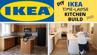 DIY IKEA TIMELAPSE KITCHEN BUILD 2020 | COMPLETE BEFORE AND AFTER  KITCHEN REMODEL In 4K