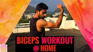 BICEP WORKOUT - Workout at Home | Episode 5 - BICEPS | No Dumbbells by Fit Tuber