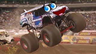 Doodles dancing monster trucks 2.  Monster trucks are jumping, dancing and singing.