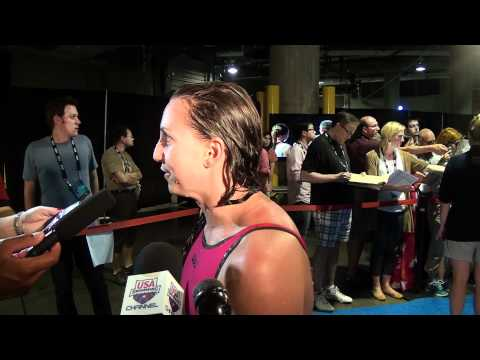 Rebecca Soni   Mixed Zone Interview D5   200 Breast Semi
