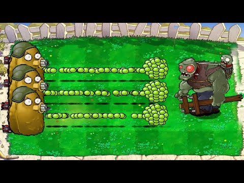 Plants vs Zombies Hack - 9999 Gatling Tall-Nut vs Giga-gargantuar ††