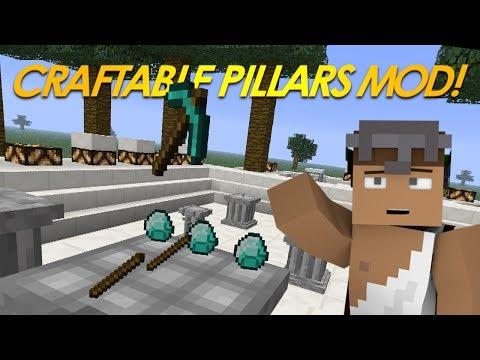 Minecraft Mods | 3D CRAFTING Mod | Craftable Pillars Mod (Mod Showcase)