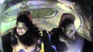 Brandi and Kel branson sling shot ride