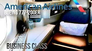 American Airlines Business Class (Forward Facing) Boeing 777-200ER London to Los Angeles