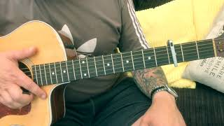 Liam Gallagher One Of Us Acoustic Guitar Lesson.