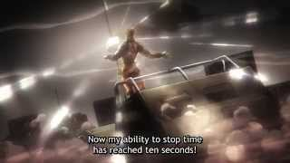 JJBA Stardust Crusaders - Road Roller Attack Dio Vs Jotaro in stopped time
