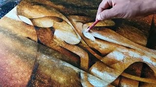 Abstract Painting / Abstract Figurative Painting In Acrylics / Demonstration