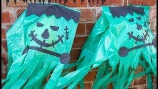 Homemade Halloween Decorations - GIANT Frankensteins