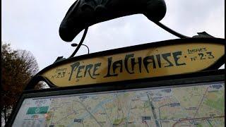 #491 The Most Famous CELEBRITY CEMETERY PERE LACHAISE Paris -  Travel Vlog (12/10/17)