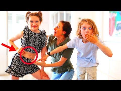 BELLY PIERCED PRANK ON OVER PROTECTIVE PARENT | Sabre gets revenge